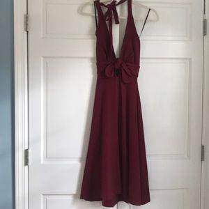 Betsey Johnson halter keyhole dress, size 0
